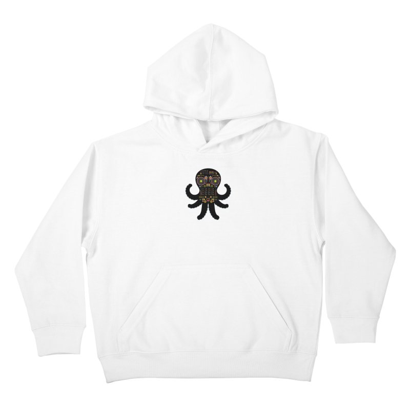 DJ Octopus Kids Pullover Hoody by Tony Bamber's Shop