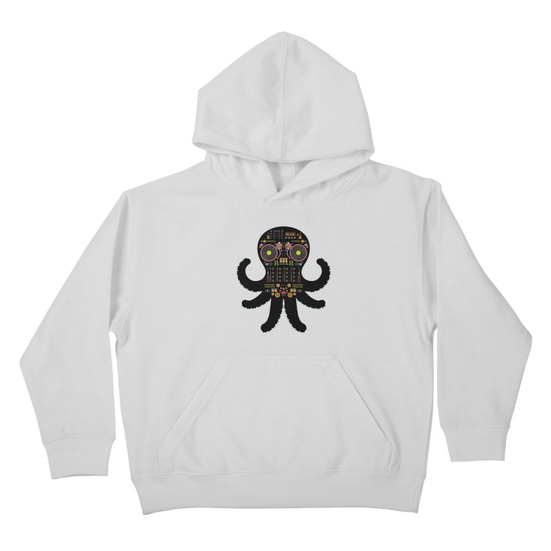 DJ Octopus Kids Pullover Hoody by Tony Bamber's Artist Shop