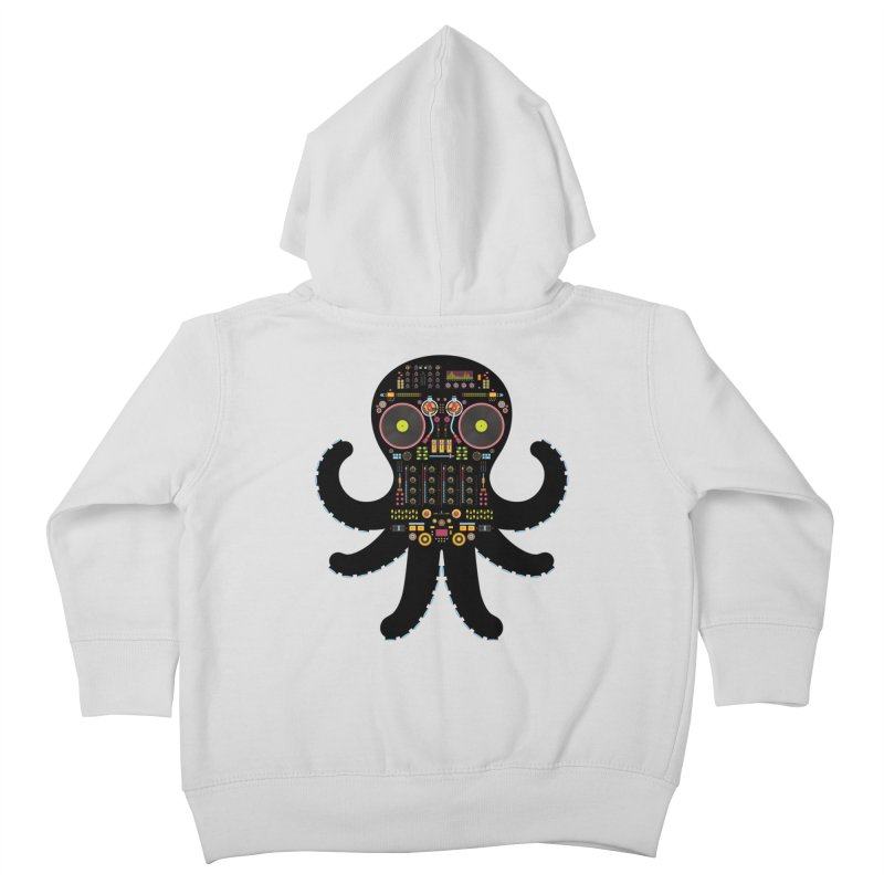 DJ Octopus Kids Toddler Zip-Up Hoody by Tony Bamber's Artist Shop