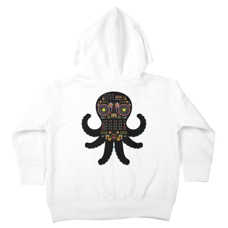 DJ Octopus Kids Toddler Zip-Up Hoody by Tony Bamber's Artist Shop