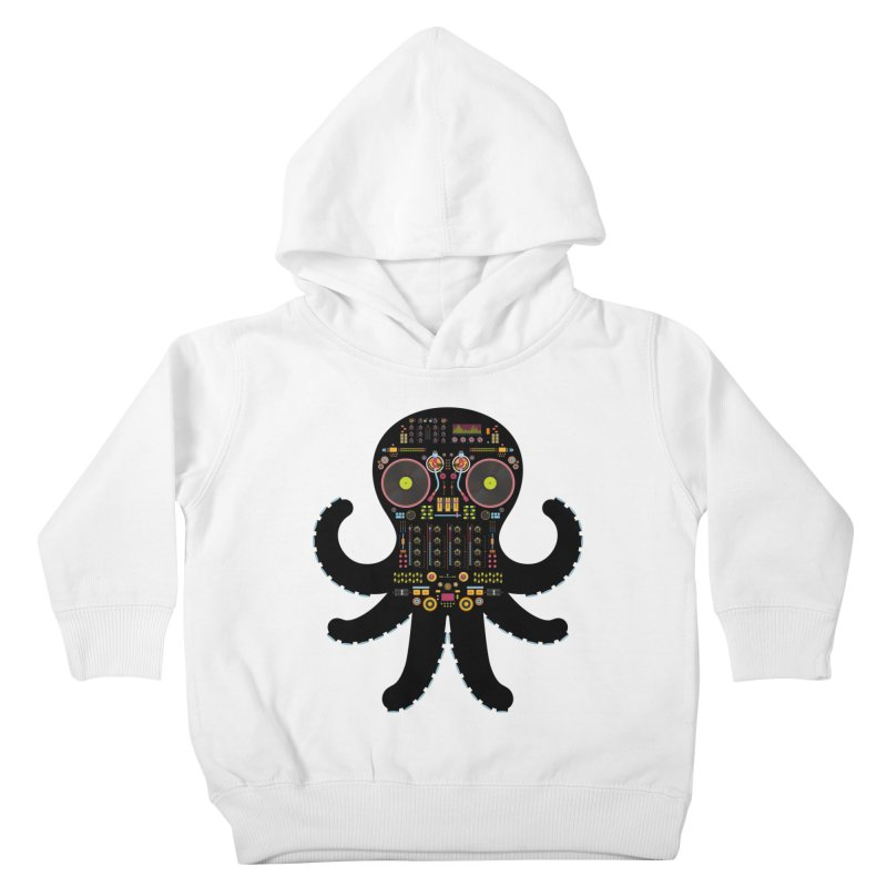 DJ Octopus Kids Toddler Pullover Hoody by Tony Bamber's Artist Shop
