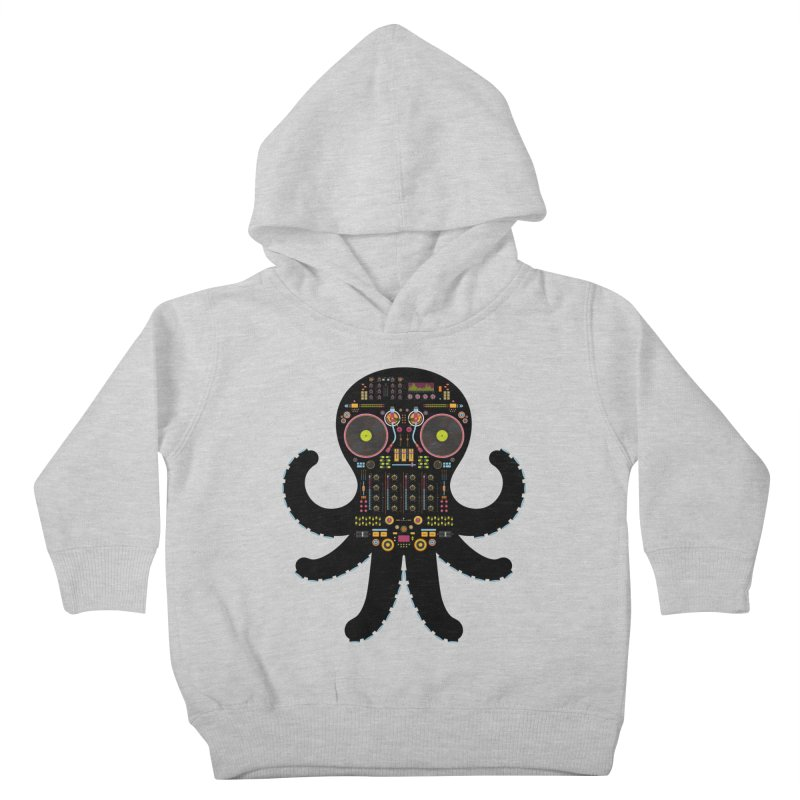 DJ Octopus Kids Toddler Pullover Hoody by Tony Bamber's Shop