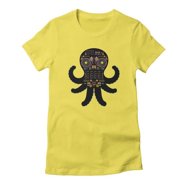 DJ Octopus Women's T-Shirt by Tony Bamber's Artist Shop