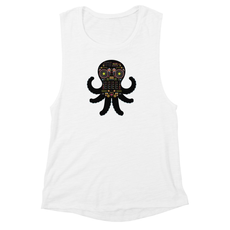 DJ Octopus Women's Muscle Tank by Tony Bamber's Artist Shop