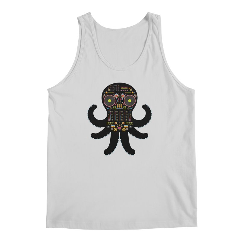 DJ Octopus Men's Regular Tank by Tony Bamber's Artist Shop