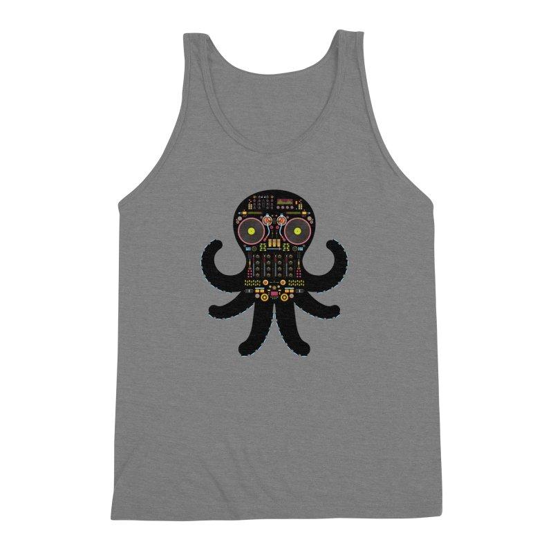 DJ Octopus Men's Triblend Tank by Tony Bamber's Artist Shop