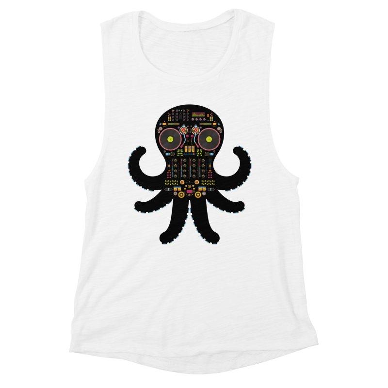 DJ Octopus Women's Muscle Tank by Tony Bamber's Shop