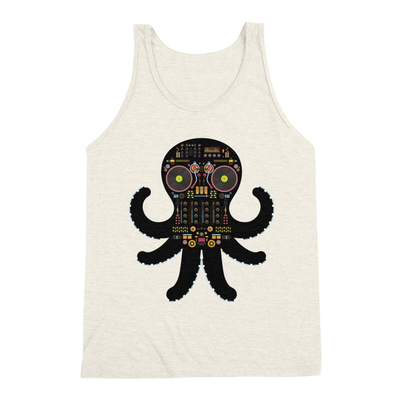 DJ Octopus Men's Triblend Tank by Tony Bamber's Shop
