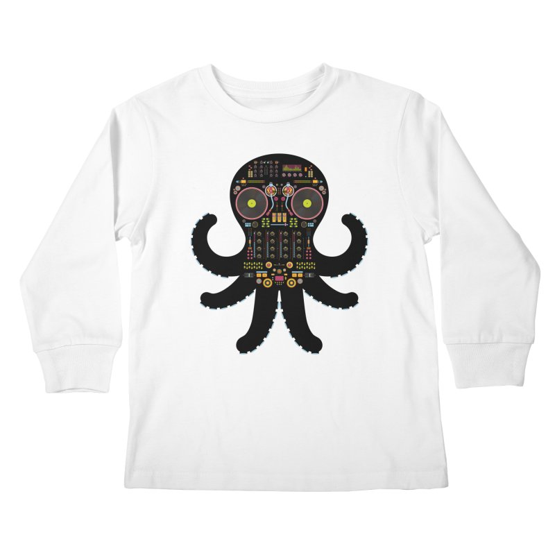 DJ Octopus Kids Longsleeve T-Shirt by Tony Bamber's Shop