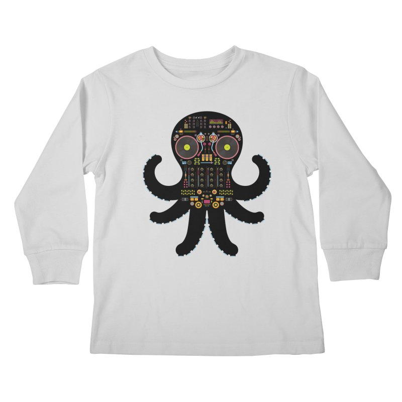 DJ Octopus Kids Longsleeve T-Shirt by Tony Bamber's Artist Shop
