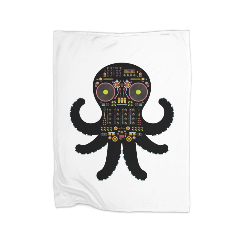 DJ Octopus Home Blanket by Tony Bamber's Artist Shop