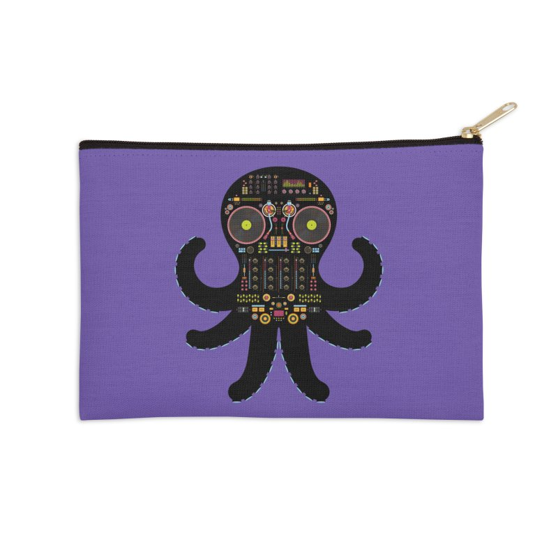 DJ Octopus Accessories Zip Pouch by Tony Bamber's Shop