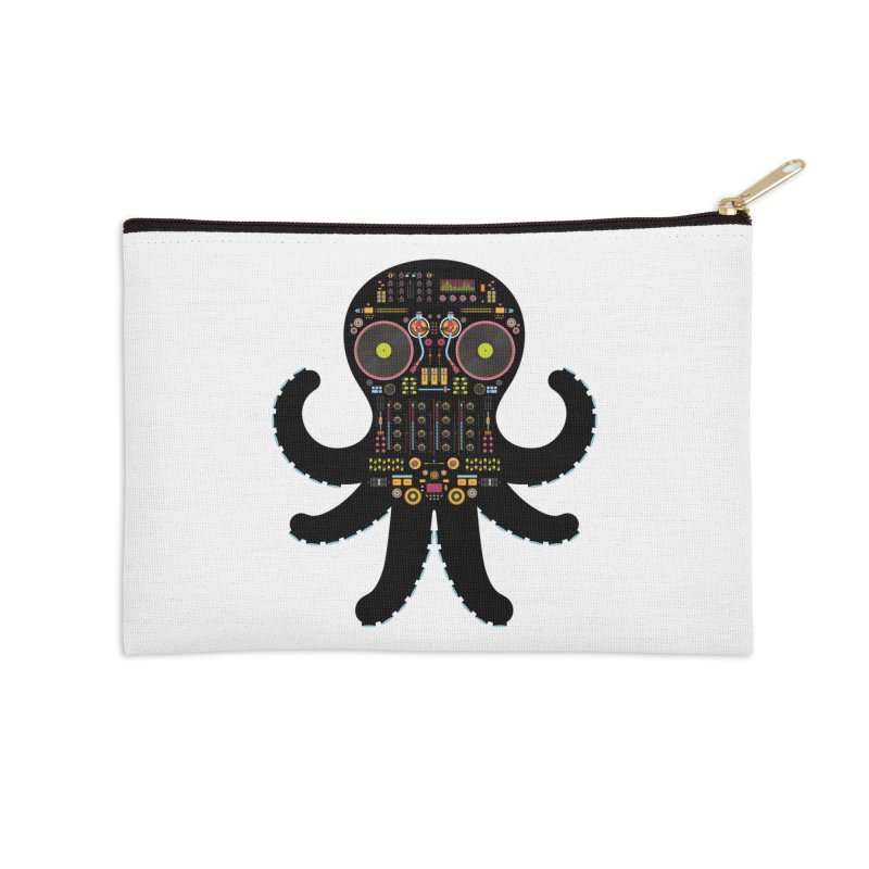 DJ Octopus Accessories Zip Pouch by Tony Bamber's Artist Shop