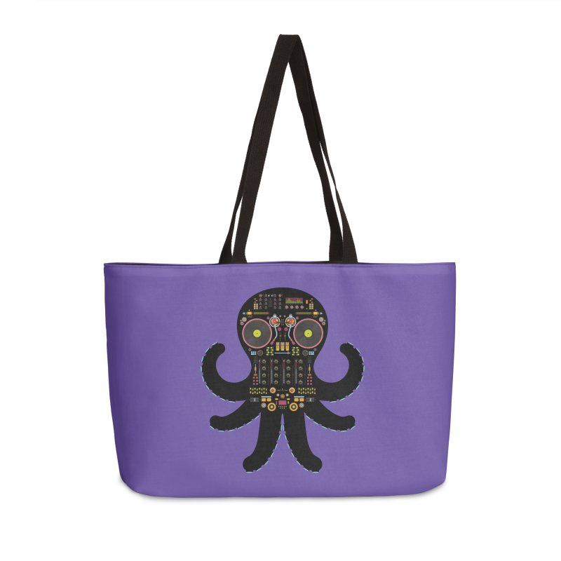 DJ Octopus Accessories Weekender Bag Bag by Tony Bamber's Shop