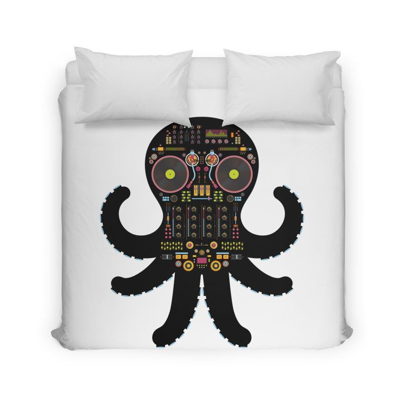 DJ Octopus Home Duvet by Tony Bamber's Artist Shop