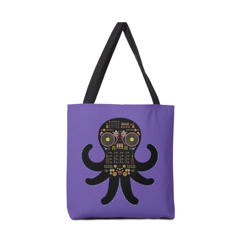 DJ Octopus Accessories Tote Bag Bag by Tony Bamber's Shop