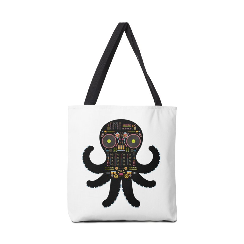 DJ Octopus Accessories Tote Bag Bag by Tony Bamber's Artist Shop