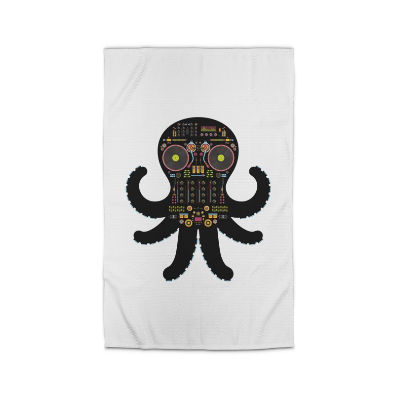 DJ Octopus Home Rug by Tony Bamber's Artist Shop
