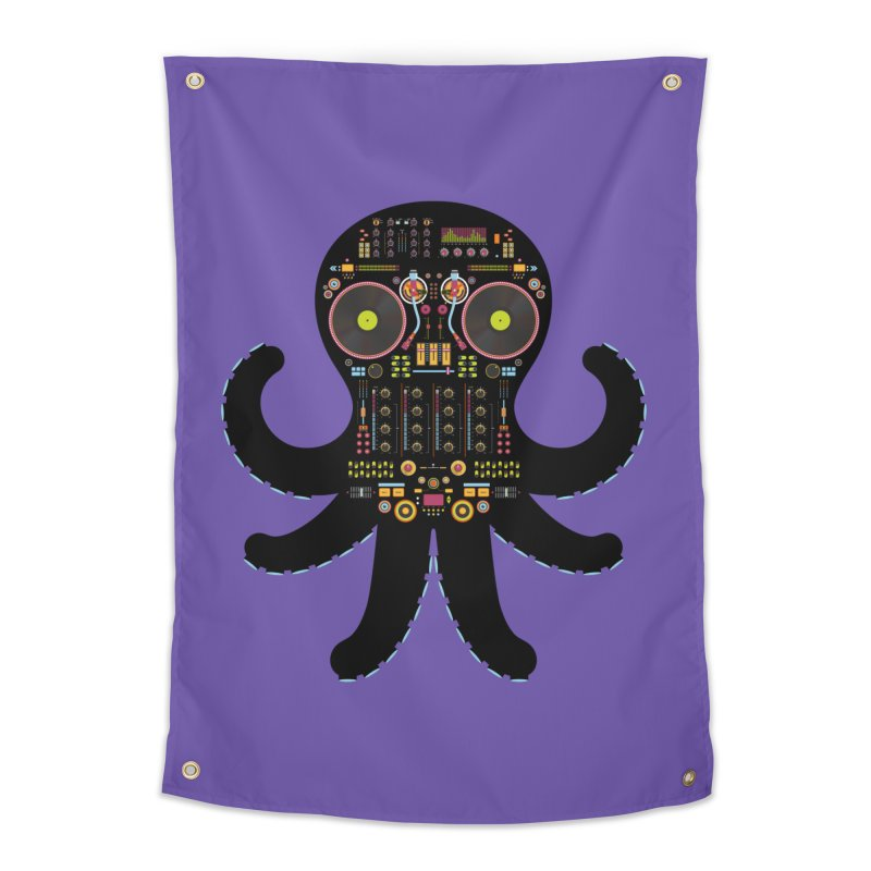 DJ Octopus Home Tapestry by Tony Bamber's Shop