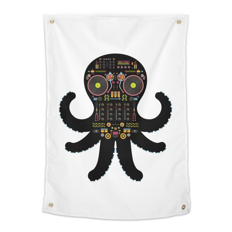 DJ Octopus Home Tapestry by Tony Bamber's Artist Shop