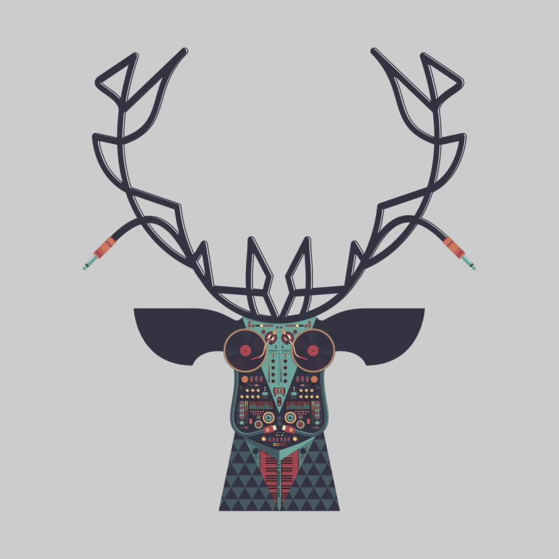 DJ Deer Home Shower Curtain by Tony Bamber's Shop