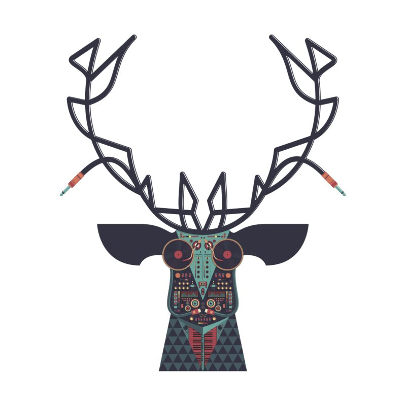 DJ Deer None  by Tony Bamber's Artist Shop