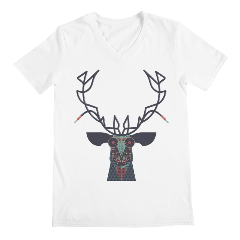 DJ Deer Men's V-Neck by Tony Bamber's Artist Shop