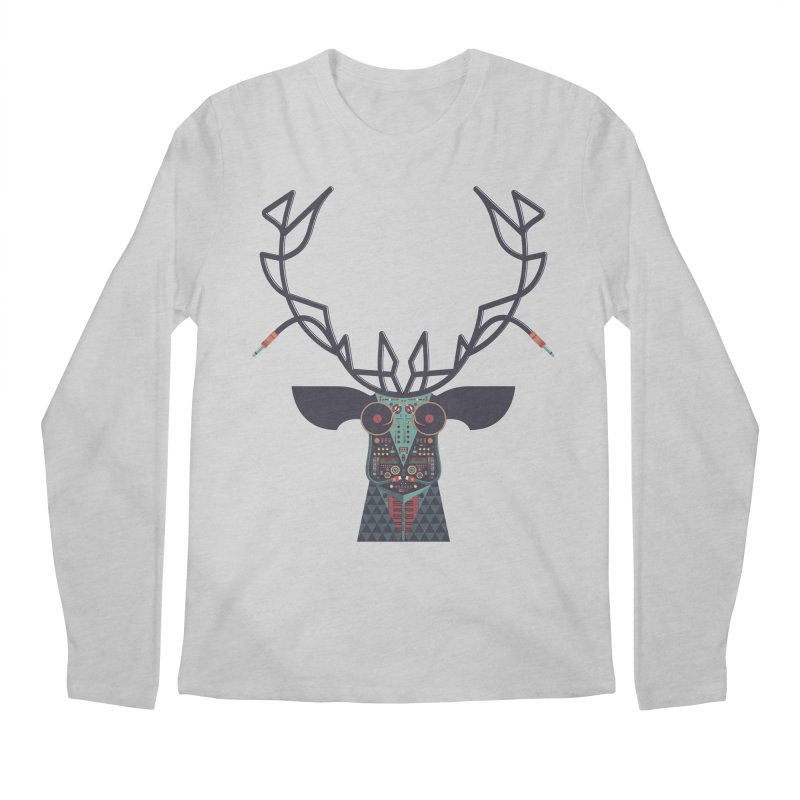 DJ Deer Men's Regular Longsleeve T-Shirt by Tony Bamber's Artist Shop