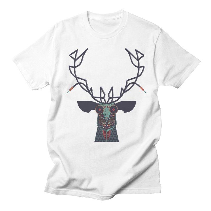 DJ Deer Men's T-Shirt by Tony Bamber's Artist Shop