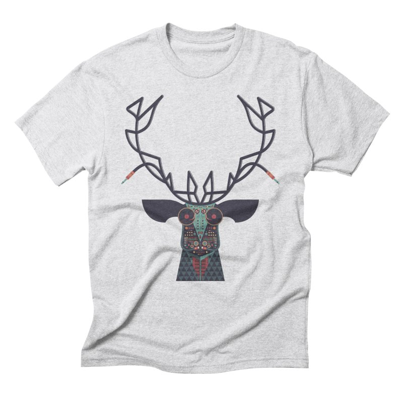 DJ Deer Men's Triblend T-Shirt by Tony Bamber's Artist Shop