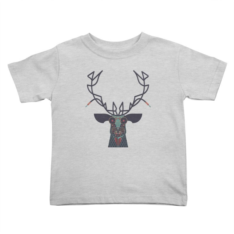 DJ Deer Kids Toddler T-Shirt by Tony Bamber's Artist Shop