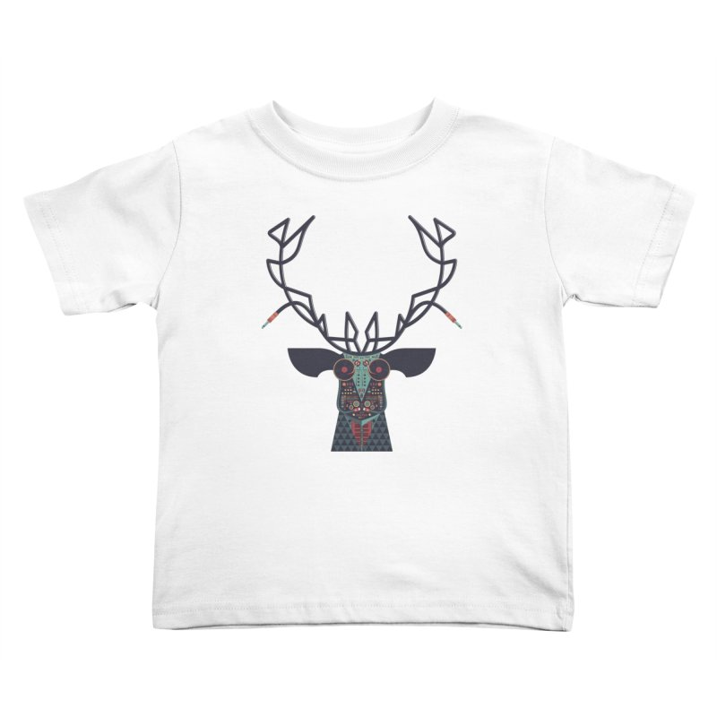 DJ Deer Kids Toddler T-Shirt by Tony Bamber's Shop