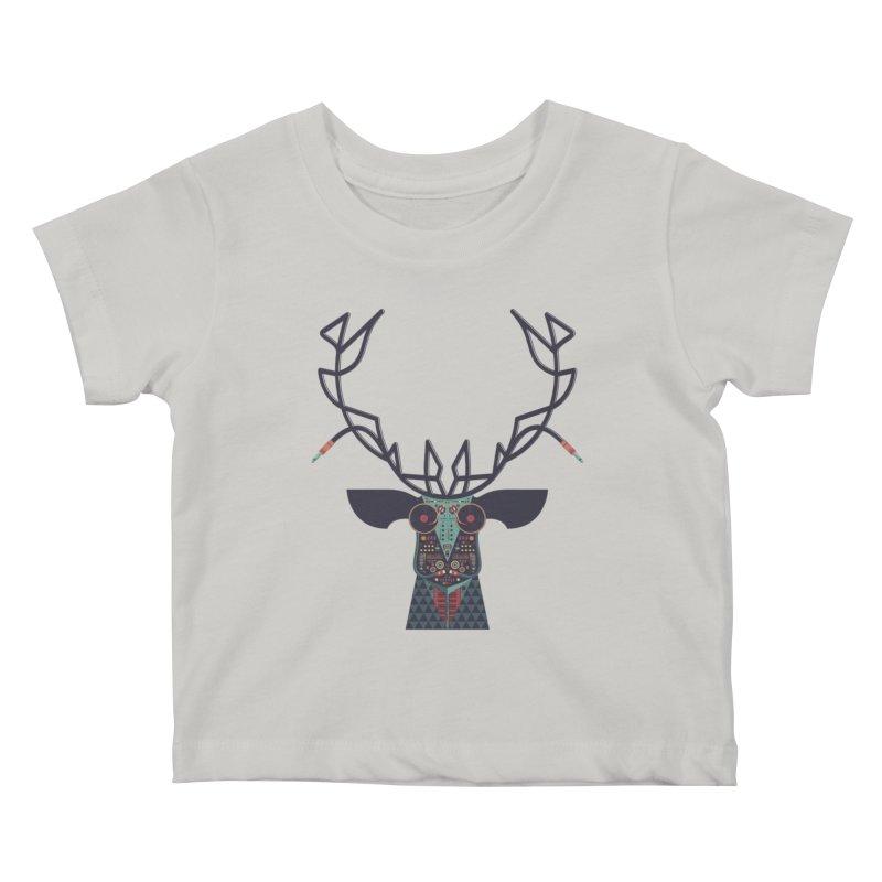 DJ Deer Kids Baby T-Shirt by Tony Bamber's Artist Shop