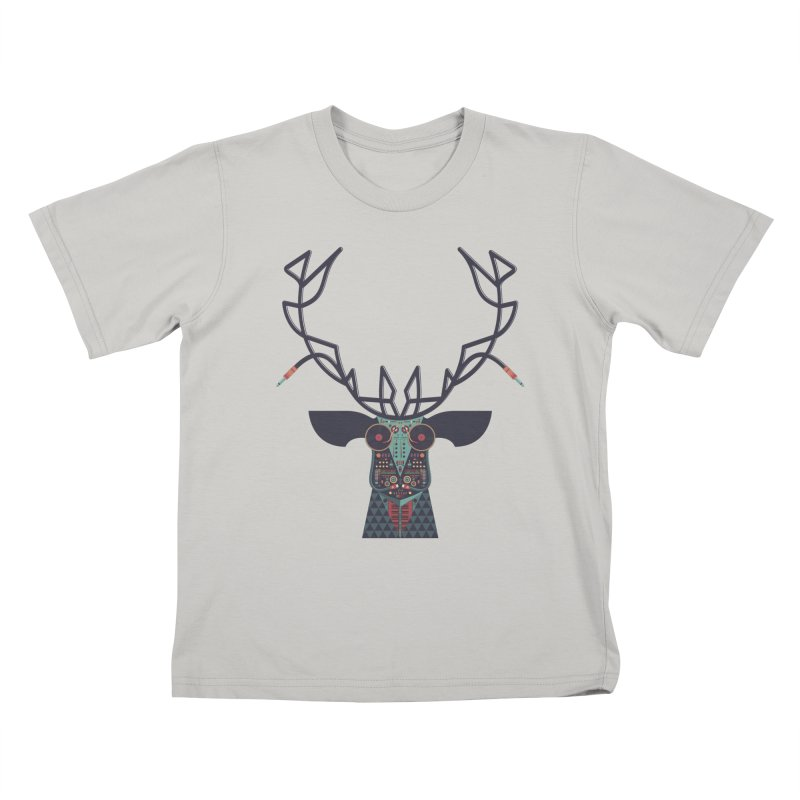 DJ Deer Kids T-Shirt by Tony Bamber's Artist Shop