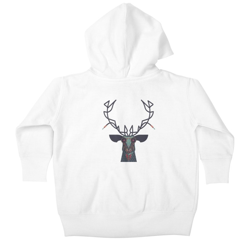 DJ Deer Kids Baby Zip-Up Hoody by Tony Bamber's Artist Shop