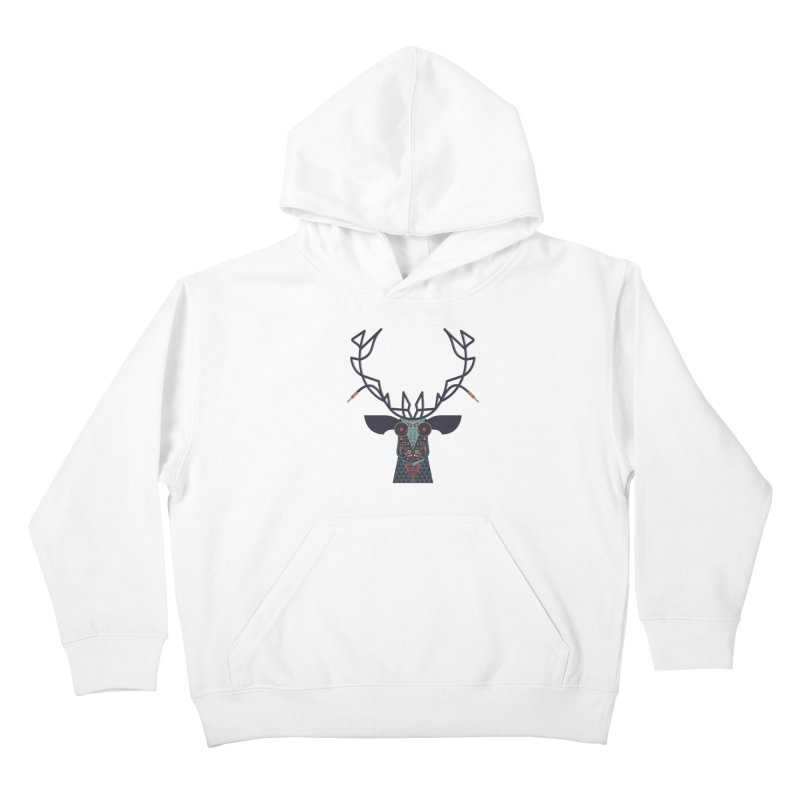 DJ Deer Kids Pullover Hoody by Tony Bamber's Artist Shop