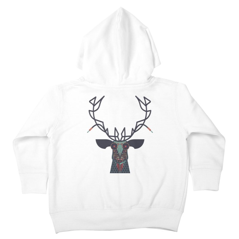 DJ Deer Kids Toddler Zip-Up Hoody by Tony Bamber's Artist Shop