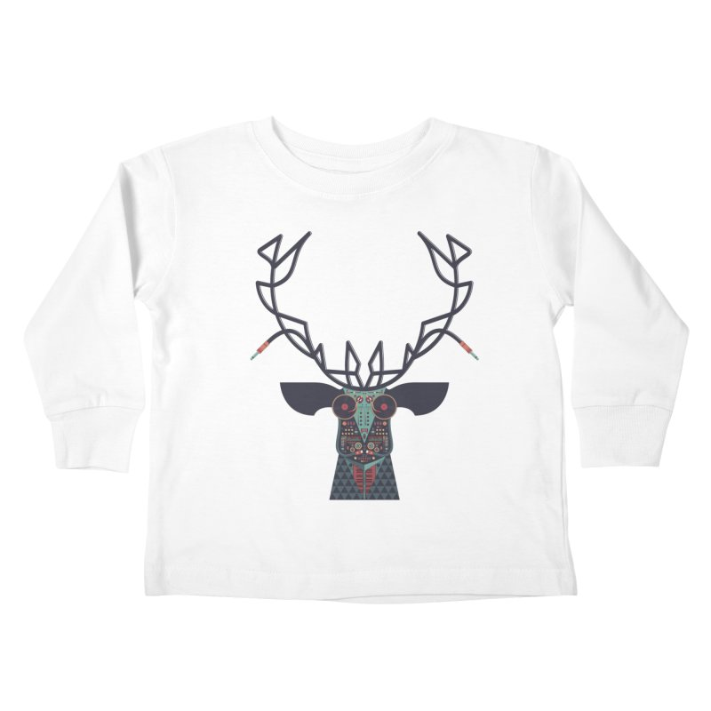 DJ Deer Kids Toddler Longsleeve T-Shirt by Tony Bamber's Shop