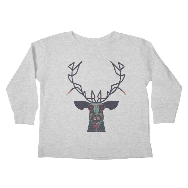 DJ Deer Kids Toddler Longsleeve T-Shirt by Tony Bamber's Artist Shop