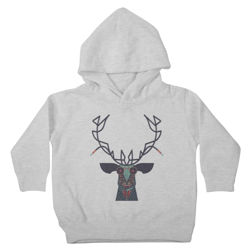 DJ Deer Kids Toddler Pullover Hoody by Tony Bamber's Artist Shop