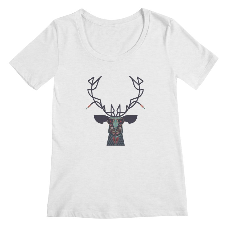 DJ Deer Women's Regular Scoop Neck by Tony Bamber's Shop
