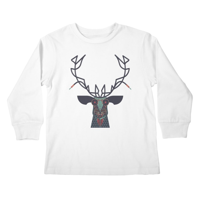 DJ Deer Kids Longsleeve T-Shirt by Tony Bamber's Shop