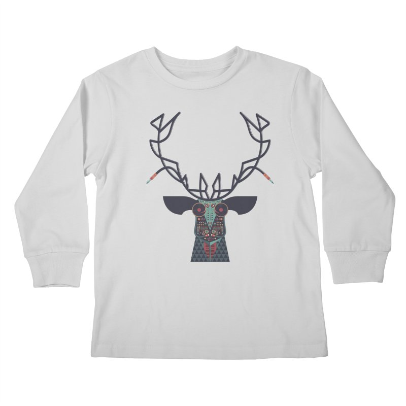 DJ Deer Kids Longsleeve T-Shirt by Tony Bamber's Artist Shop