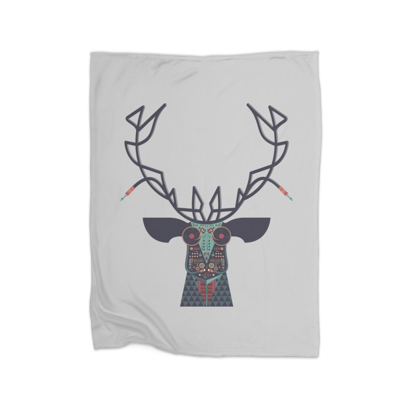 DJ Deer Home Fleece Blanket Blanket by Tony Bamber's Shop