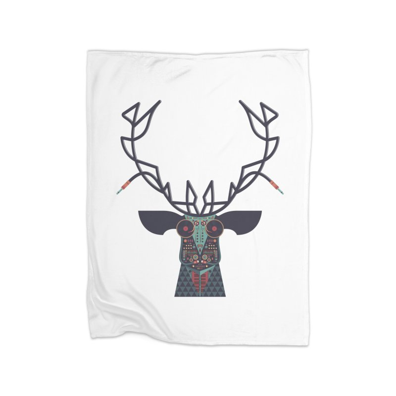 DJ Deer Home Blanket by Tony Bamber's Artist Shop