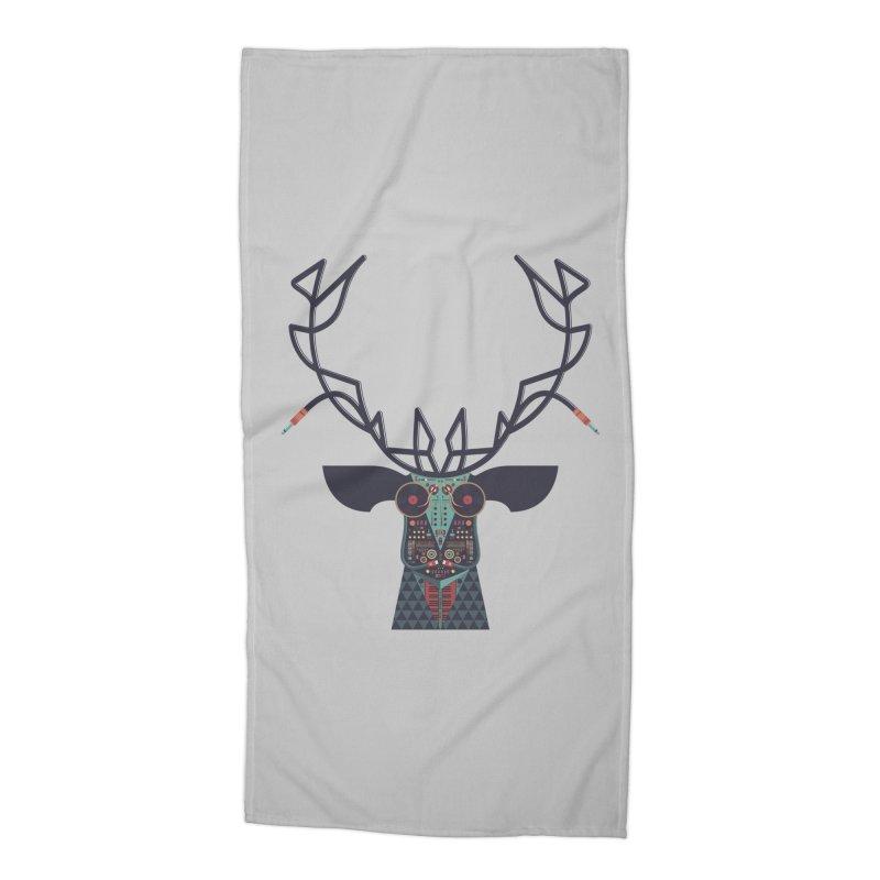 DJ Deer Accessories Beach Towel by Tony Bamber's Shop