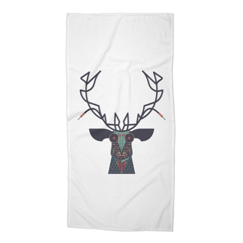 DJ Deer Accessories Beach Towel by Tony Bamber's Artist Shop