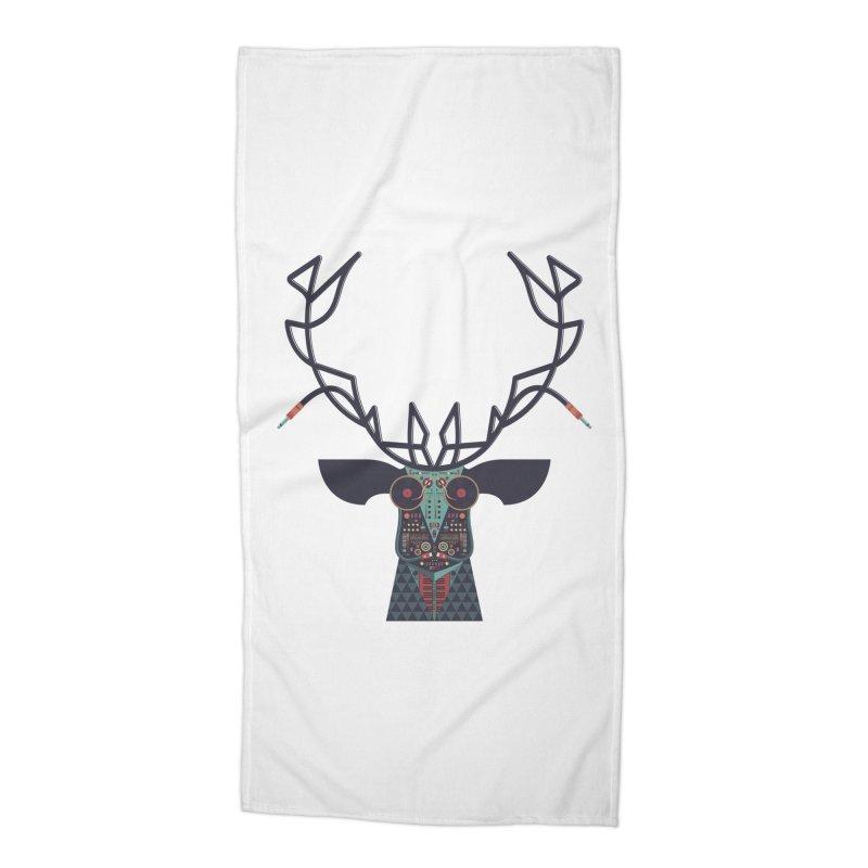 DJ Deer Accessories Beach Towel by Tony Bamber's Artist Shop