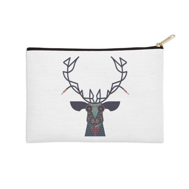 DJ Deer Accessories Zip Pouch by Tony Bamber's Artist Shop