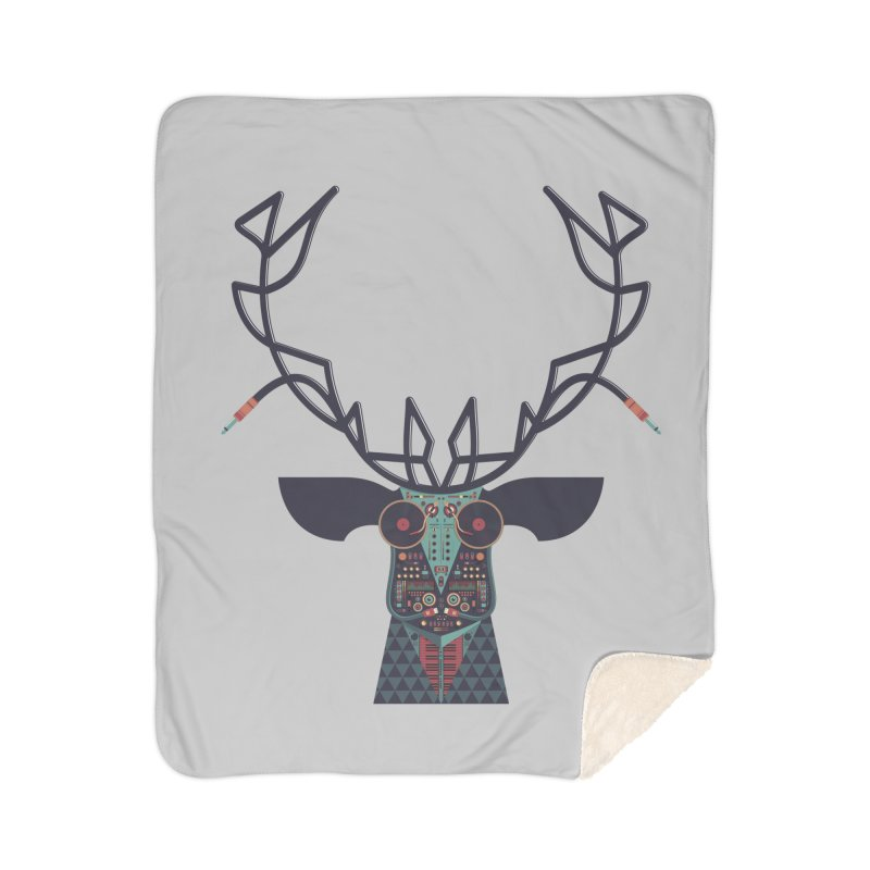 DJ Deer Home Sherpa Blanket Blanket by Tony Bamber's Shop